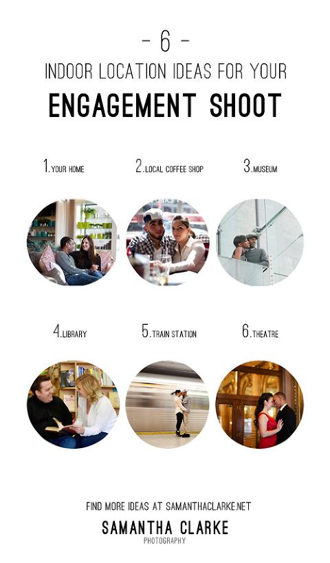 Indoor Engagement Shoot Ideas