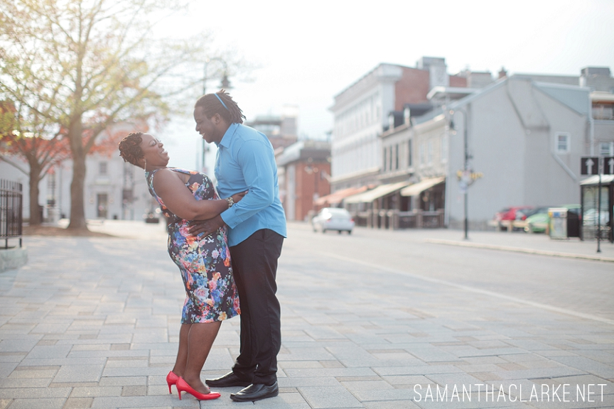 natural hair engagement session