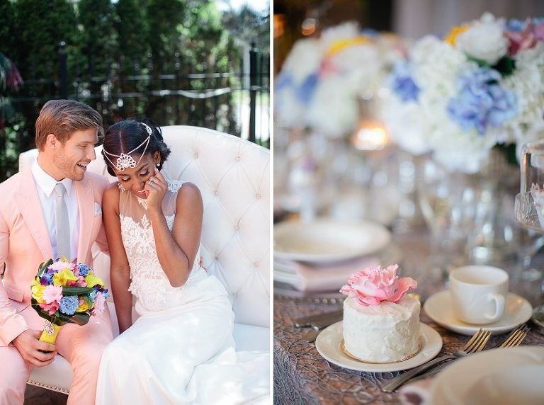 Elegant Pastel Wedding Photo