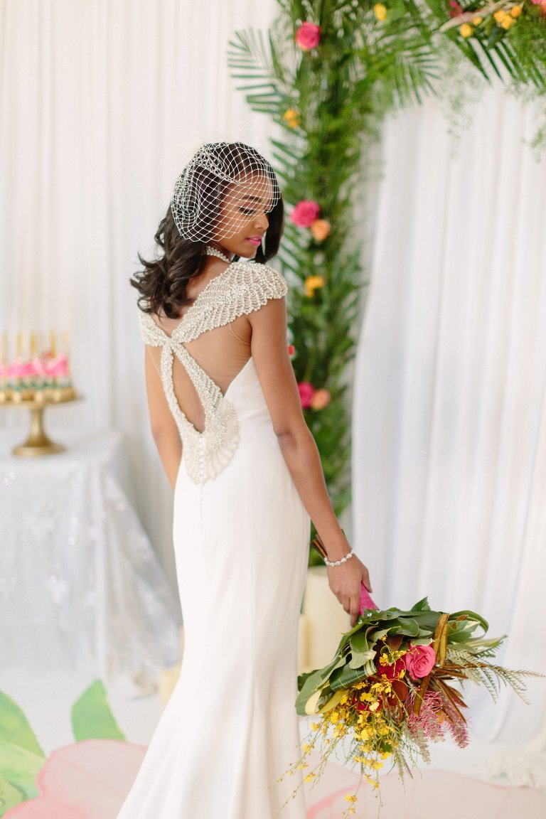 Tropical Themed Wedding Inspiration Featured on Black Bride ...