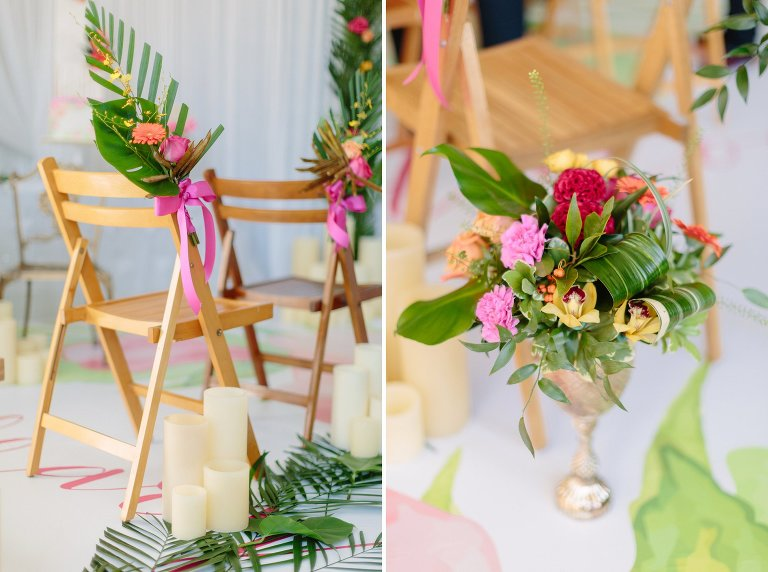 Tropical Greenery Wedding Decor